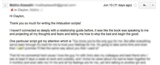 Infatuation Scripts Review 3
